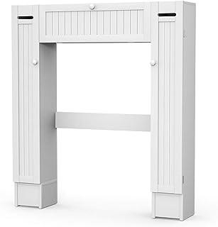 DREAMADE Etagère Salle de Bain Au-Dessus de Toilettes WC Machine à Laver, Peu Encombrant Divers Rangements avec Porte avec...