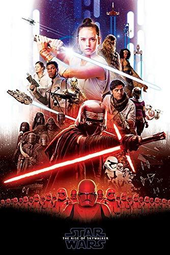 Star Wars Póster Episode IX: The Rise of Skywalker - Epic (61cm x 91,5cm) + 1 Paquete de tesa Powerstrips® (20 Tiras)