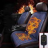 AUTOYOUTH Ein Paar beheizte Sitzbezüge, kurzer Plüschstoff, Autositzbezug, Schutzbezug,...