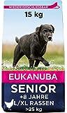 Eukanuba Hundefutter mit frischem Huhn fr groe Rassen, Premium Trockenfutter fr Senior Hunde, 15 kg