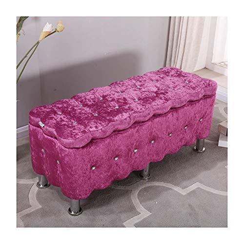 Sitzbank Sitzwürfel Faltbar Aufbewahrungsbox Bis 220 Kg Belastbar, Mit Stauraum Aufbewahrungsbox Fußschemel (Color : Pink, Size :...