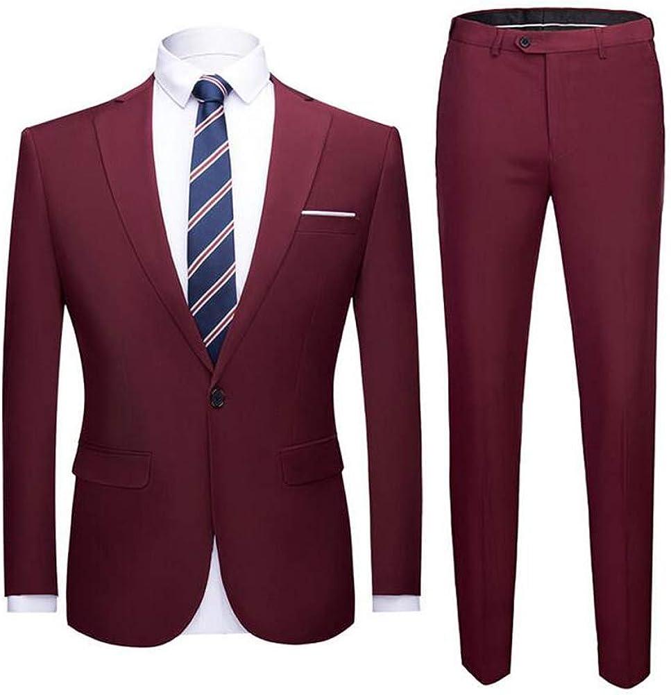TOPG Men's Suit Slim Fit 2 Pieces Business Suit Wedding Party Casual