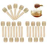 CUNYA 20 varillas de miel mini peine de miel, 8 cm de madera dispensador de miel para jarra de miel dispensar miel, boda, fiesta, suministros de fiesta de género revelar
