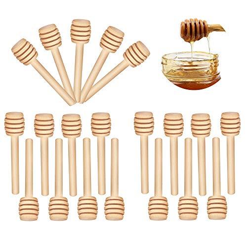 CUNYA Honigstäbchen, Mini-Honigkamm, 8 cm, Holz, Honiglöffel, Honigspender für Honiggläser, Honig, Hochzeit, Party, Gender Reveal Party-Zubehör, 20 Stück