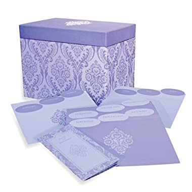 Designer Greetings 711-00005-0000   - Deluxe Card Organizer Kit In Decorative Designer Damask Patterned Box Containing Dividers for Month And Type Of Greeting Card And Booklet For Tracking Days To Remember