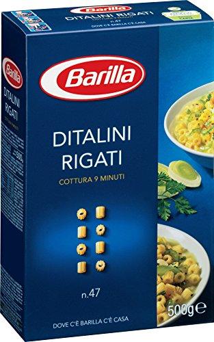 Barilla Pasta Nudeln Ditalini Rigati n. 47, 24er Pack (24 x 500 g)