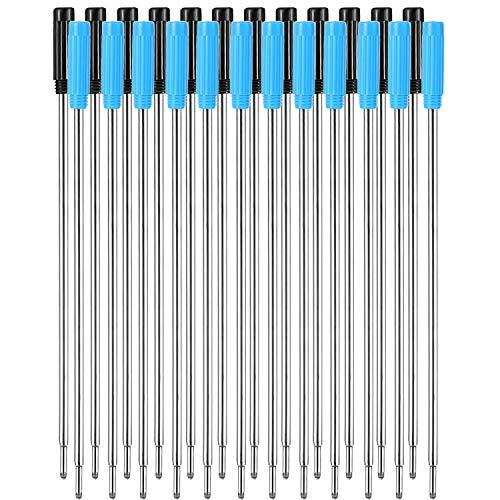 24 Piezas de Recambios de Bolígrafos de Punta de Bola Reemplazables Negros Escritura Lisa 4,5 Pulgadas (11,6 cm) y 1 mm Punta Medium (Negro y Azul)