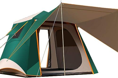 WYFDM Tente Extérieure, Tente Imperméable en Tissu à Carreaux, 3-4 Personnes, Grande Tente De Flanc, Camping, Camping, épaisse Couche De Prougeection Solaire Anti-UV