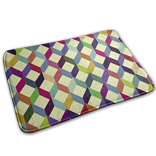 hgdfhfgd Alfombrillas de Suelo de rombo con patrón geométrico 40x60cm Felpudos Alfombra Suave para Cocina Sala Comedor Dormitorio