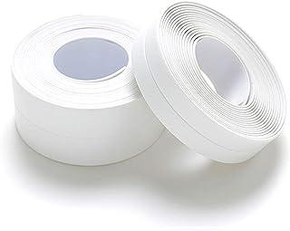 AKRI 防水テープ 補修テープ キッチン 浴室 台所コーナーテープ 二個セット 接着 防水 柔軟 シールテープ 隙間テープ 防カビシンク お風呂 浴槽まわり ホワイト