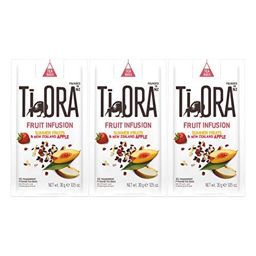 Ti Ora Fruit Infusion Summer Fruits, Früchtetee, Früchtemischung, Früchte Tee, 45 Teebeutel, á 2 g