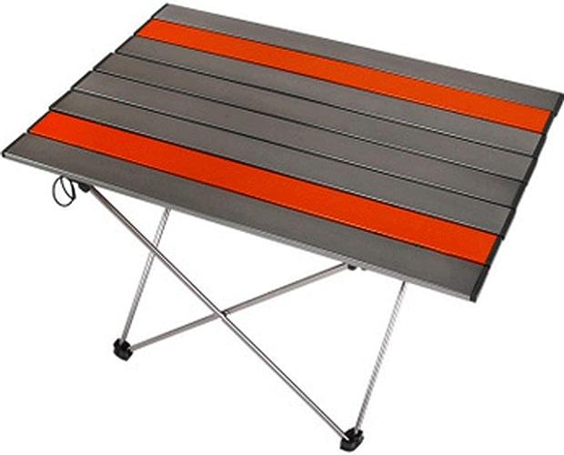 Table Multifonctions Pliant Léger Pliable Table De Camping Portable avec Sac De Transport PourExtérieur, Camping, Pique-Nique Barbecue Plage, Pêche,marron-L