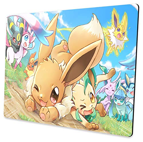 Rectangular Custom Pokemon Mouse Pad, Non-Slip Gaming Mouse Pad for Office and Home Computer Desk