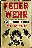 """Blechschilder Feuerwehr Motiv & Spruch: """"Feuerwehr ANDERE"""