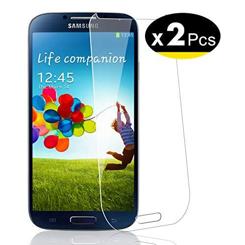 NEW'C PanzerglasFolie Schutzfolie für Samsung Galaxy S4, [2 Stück] Frei von Kratzern Fingabdrücken und Öl, 9H Härte, HD Displayschutzfolie, Displayschutzfolie Samsung Galaxy S4