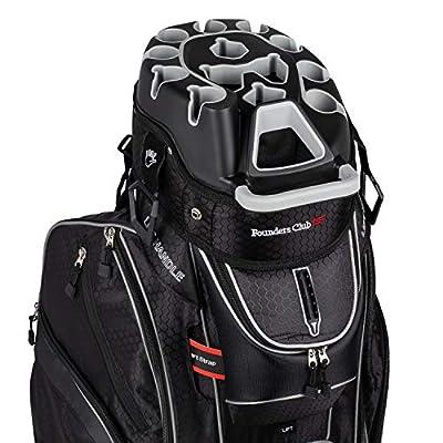 Founders Club Premium Cart Bag with 14 Way Organizer Divider Top (G3 Black)