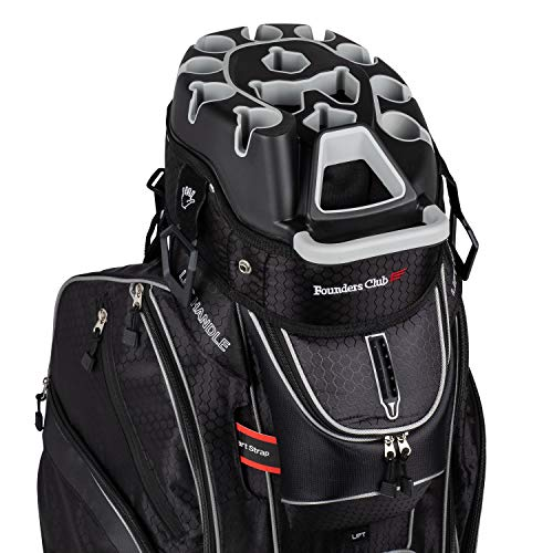 Founders Club Premium Cart Bag with 14 Way Organizer Divider Top (G3 Black)