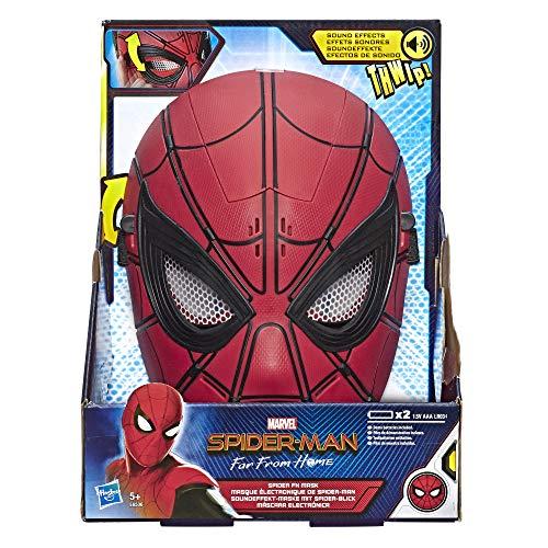 Marvel Spider-Man: Far From Home Soundeffekt-Maske mit Spider-Blick für Spider-Man Rollenspiele – Superheld Maske Spielzeug