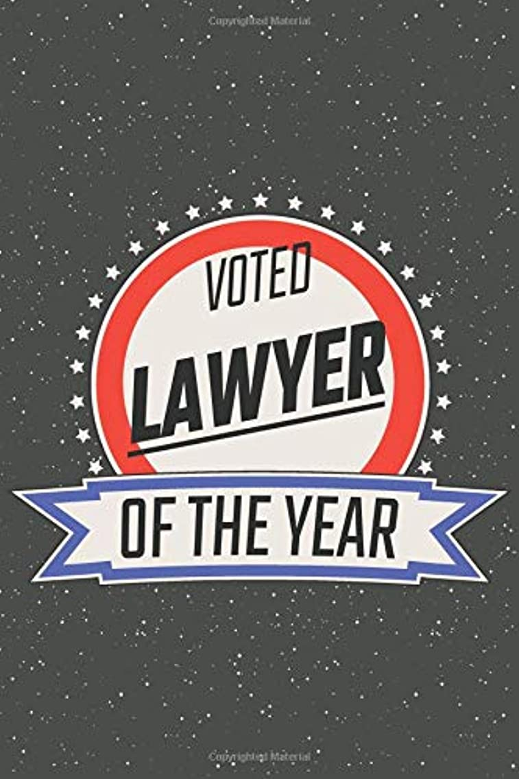 Voted Lawyer Of The Year: Notebook, Planner or Journal | Size 6 x 9 | 110 Lined Pages | Office Equipment, Supplies | Great Gift Idea for Christmas or Birthday for a Lawyer