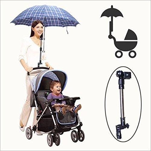 Huihuger - Soporte Universal para Paraguas de 30 a 50 cm para Bicicleta, Cochecito, Silla de Ruedas, Pesca y Carrito de Golf