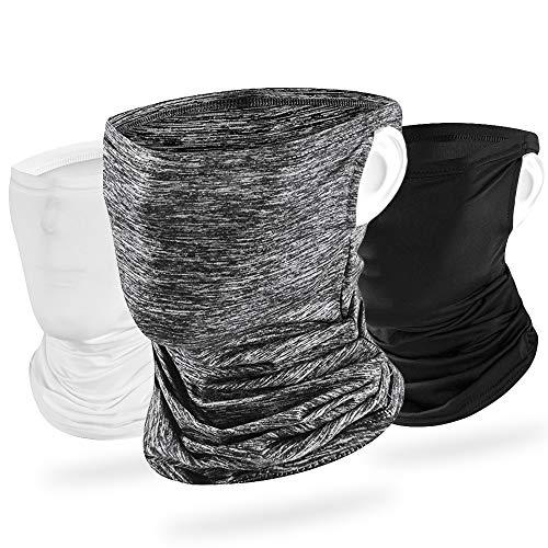 【3枚】 ネックゲイター 冷感 夏 耳かけ ネックガード ランニング フェイスカバー UVカット ネックカバー 日焼け防止 UPF50+ 吸汗速乾 伸縮・通気性 呼吸しやすい 男女兼用