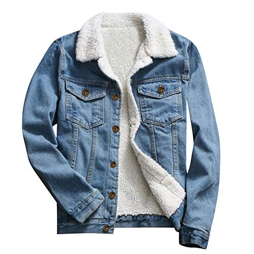 TOTOD Denim Coat Jean Jacket Women Vintage Upset Outwear Loose Fleece Inner Button Oversize Tunic Streetwear Clearance