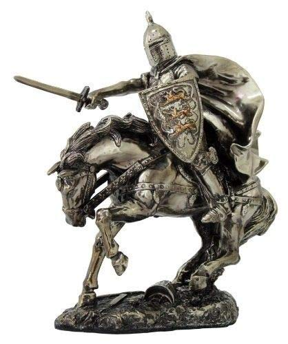 Figurines and Statues Medieval Knight ON Cavalry Horse Charging with Sword Statue WAR Battle Front from ShopForAllYou