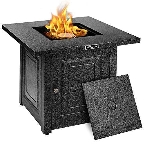 Gas Propane Fire Pit Table, SNAN 28 Inch 2021 Upgrade, Outdoor Companion,...