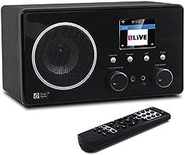 Ocean Digital Internet Radio WiFi Music Player WR282CD - FM Radios Antenna Tuner, Bluetooth Digital Speaker with 3.5mm Aux-in - Alarm Clock
