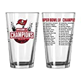 Tampa Bay Buccaneers Super Bowl LV 55 Champions Roster Pint Glass 16oz (Package of One)