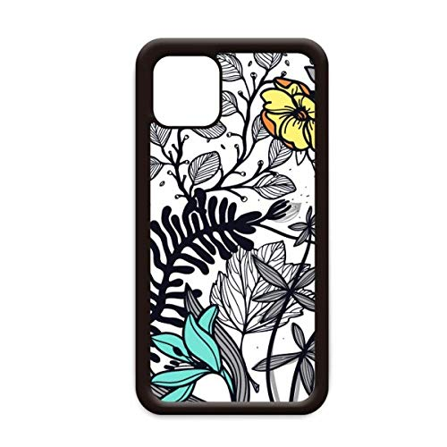 Moderne kunst Camellia Bloemen Planten Tekenen voor Apple iPhone 11 Pro Max Cover Apple Mobiele Telefoonhoesje Shell, for iPhone11