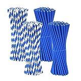 HJHQQ-CZYHG 200 PCS Pajitas de Colores pajitas para niños para Batidos de Jugo Batidos Decoraciones Fiesta de Unicornio Suministros para Fiestas Familiares Boda (Color : Bleues)