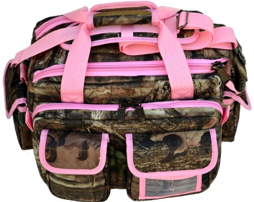Mossy Oak Pink Trim Camouflage Tactical Range Bag Pistol Case Gun Camera Bag