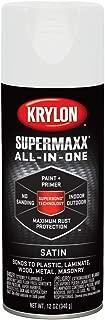Krylon K08981000 White Enamel (Actual Net Contents: 12-oz) Spray Paint, 12 oz, Satin