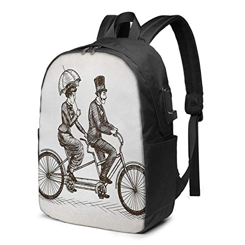 Laptop Backpack with USB Port Ivory 35, Business Travel Bag, College School Computer Rucksack Bag for Men Women 17 Inch Laptop Notebook