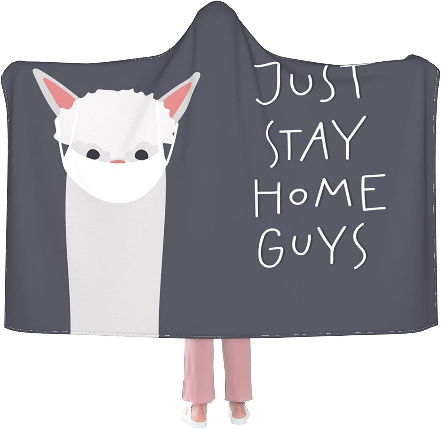 Stay wholesale Home Alpaca Llama Wearable Hooded Flannel Blanket New mail order