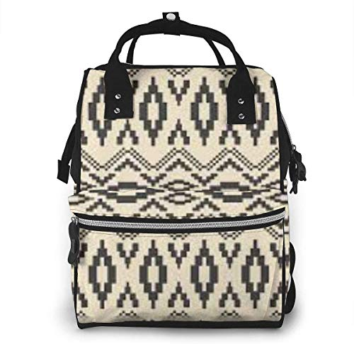 Diaper Bag Backpack Travel Bag Large Multifunction Waterproof Native American Art Patterns Stylish and Durable Nappy Bag for Baby Care School Backpack