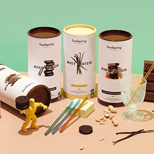 foodspring - Whey Protein al gusto Vaniglia - 750 g -80% di proteine del siero del latte - Proteine per lo sviluppo muscolare