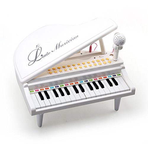 Amy&Benton Piano Keyboard Toy for Kids 31 Keys White Multifunctional Electronic Toy Piano with Microphone for Baby Toddler Birthday Gift Toy for 3 4 Year Old