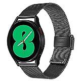 TRUMiRR Cinturino Compatibile con Galaxy Watch 4 40mm 44mm, Cinturino per Orologio in Acciaio Inossidabile Intrecciato Bracciale a sgancio rapido per Samsung Galaxy Watch4 Classic 42mm 46mm