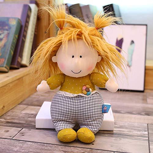 Animal de Peluche súper Suave, Juguete Interactivo para Mascotas de Peluche Realista, Caricatura Linda Hermana pequeña muñeca de Juguete de Felpa Regalo de cumpleaños para niños 40cm Amarillo