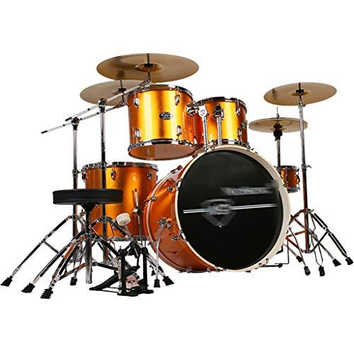 Basstrommeln Percussion Drums Party Drum Set Adult Children Es Self-Study Drums Professional Playing Percussion Instrument 5 Drums 4 Pieces (Color : Gold, Size : 120 * 160cm)