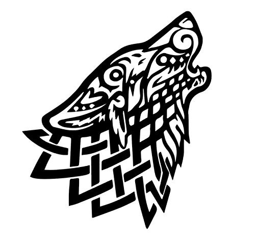 Celtic Wolf Vinyl Decal, Celtic Wall Art, Celtic Knot Stickers, Celtic Knot Decals, Wolf Decals, Wolf Stickers