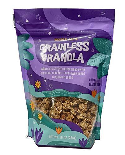 Trader Joe's Grainless Granola - Vegan & Gluten Free - Sweet & Salty Clusters Made with Almonds, Coconut, Sunflower & Pumpkin Seeds