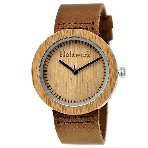 Holzwerk Germany - Reloj de pulsera analógico para mujer (mecanismo de cuarzo, correa de piel), color marrón