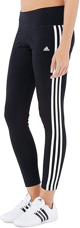 Adidas Womens Essential 3 Stripe Tight S21020 (Large, Black White)