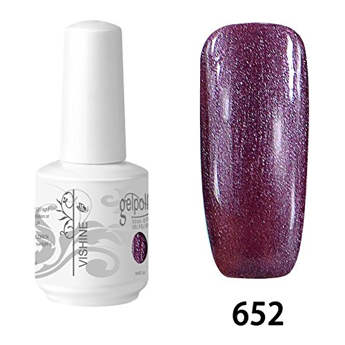 Vishine Vernis à ongles Semi-permanent Soak Off UV LED Gel Polish Nail Gel Manucure Pearl Orchid(652)