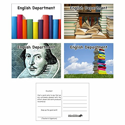 Aufkleber, englische Schule, Postkarten, für Lehrer, Eltern und Schulen