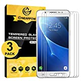 NearPow [3 Pack Protector de Pantalla para Samsung Galaxy J5 2016 Cristal Vidrio Templado [9H Dureza] [Alta Definicion] [Sin burbu]