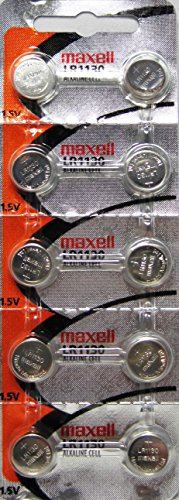 Maxell Watch Battery Button Cell LR1130 AG10 Pack of 10 Batteries